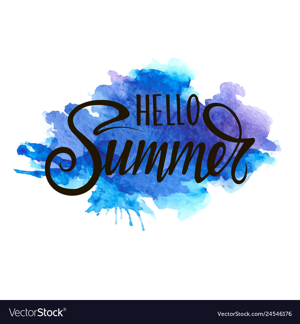 Inscription - hello summer