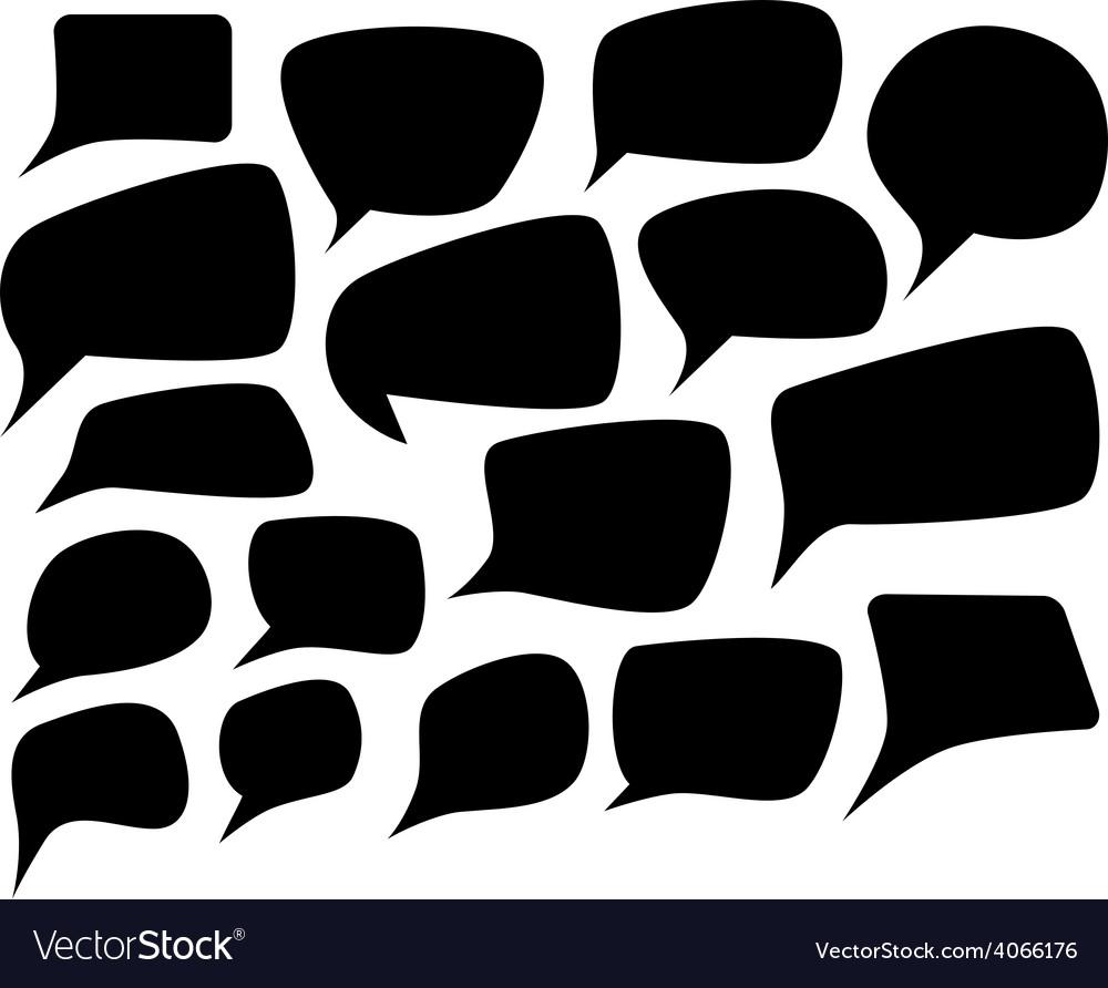Speech silhouette set