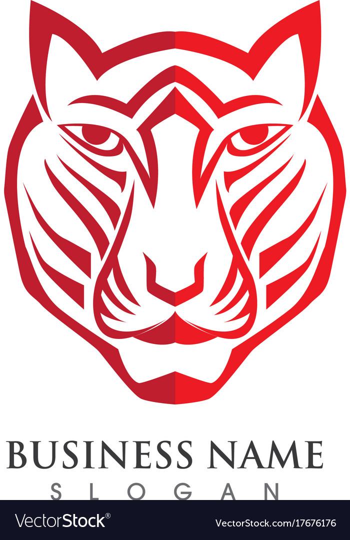 Tiger Logo Template Royalty Free Vector Image VectorStock