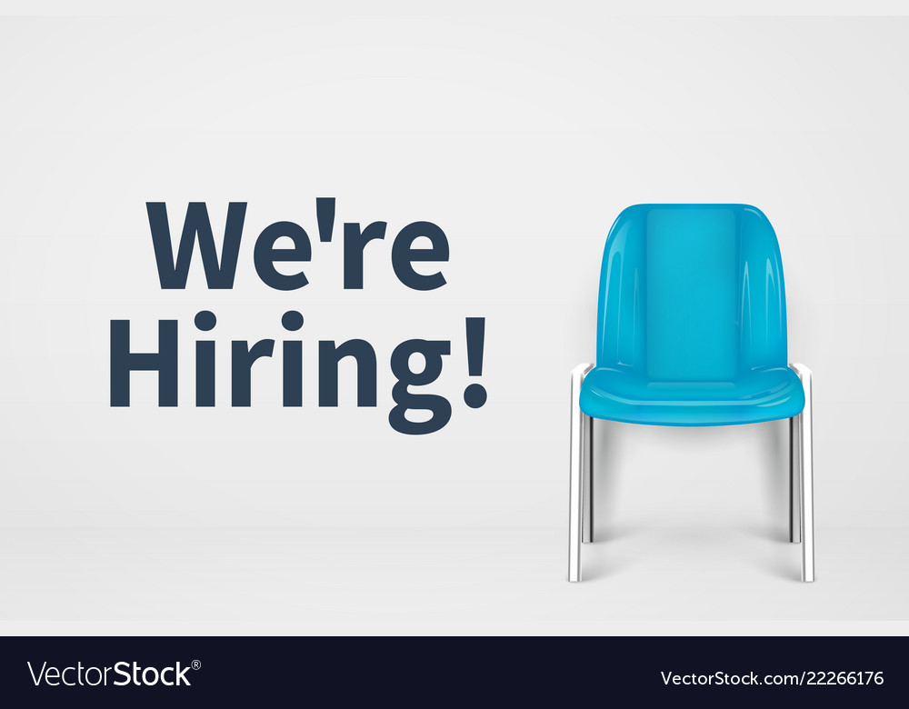 We are hiring concept vacant office chair empty