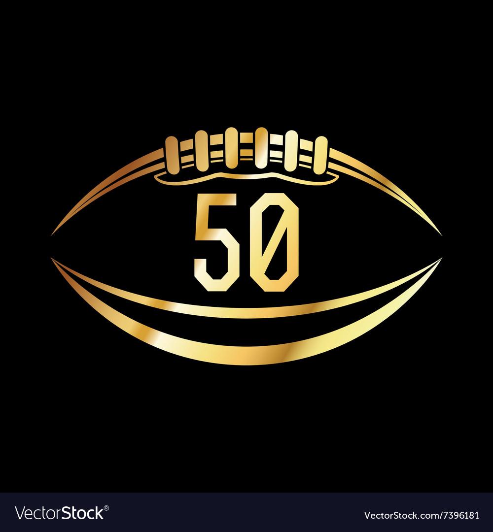 American football 50 icon