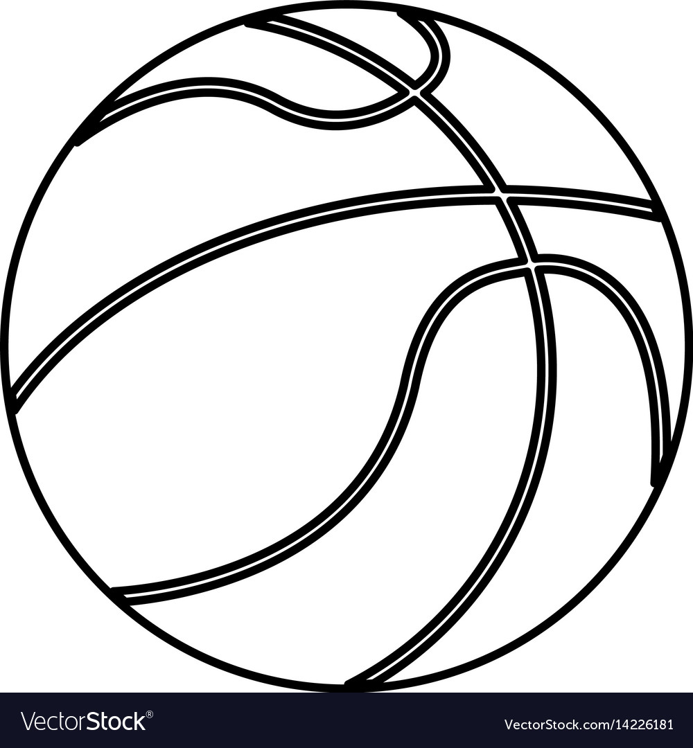 Ball Basketball Sport Equipment Outline Royalty Free Vector Basketball is a ball game and team sport in which two teams of five players try to score points by throwing or shooting a ball through the top of a basketball hoop while following a set of rules. vectorstock
