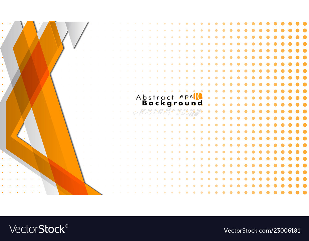 Bright abstract background template orange with
