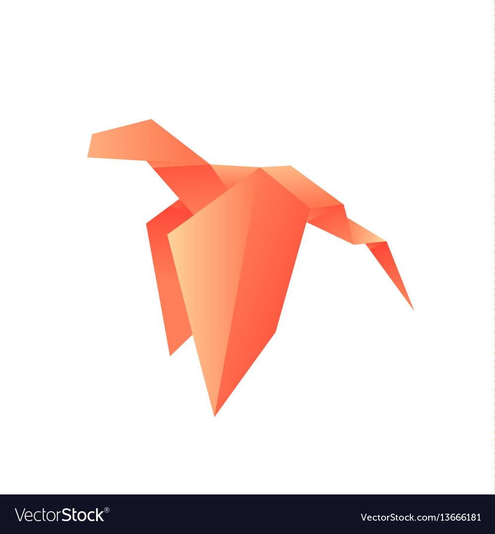 Dragon animals origami logo
