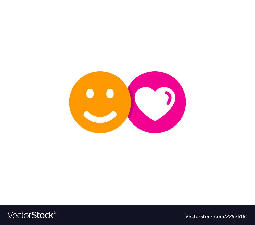 Emoticon social network logo icon design
