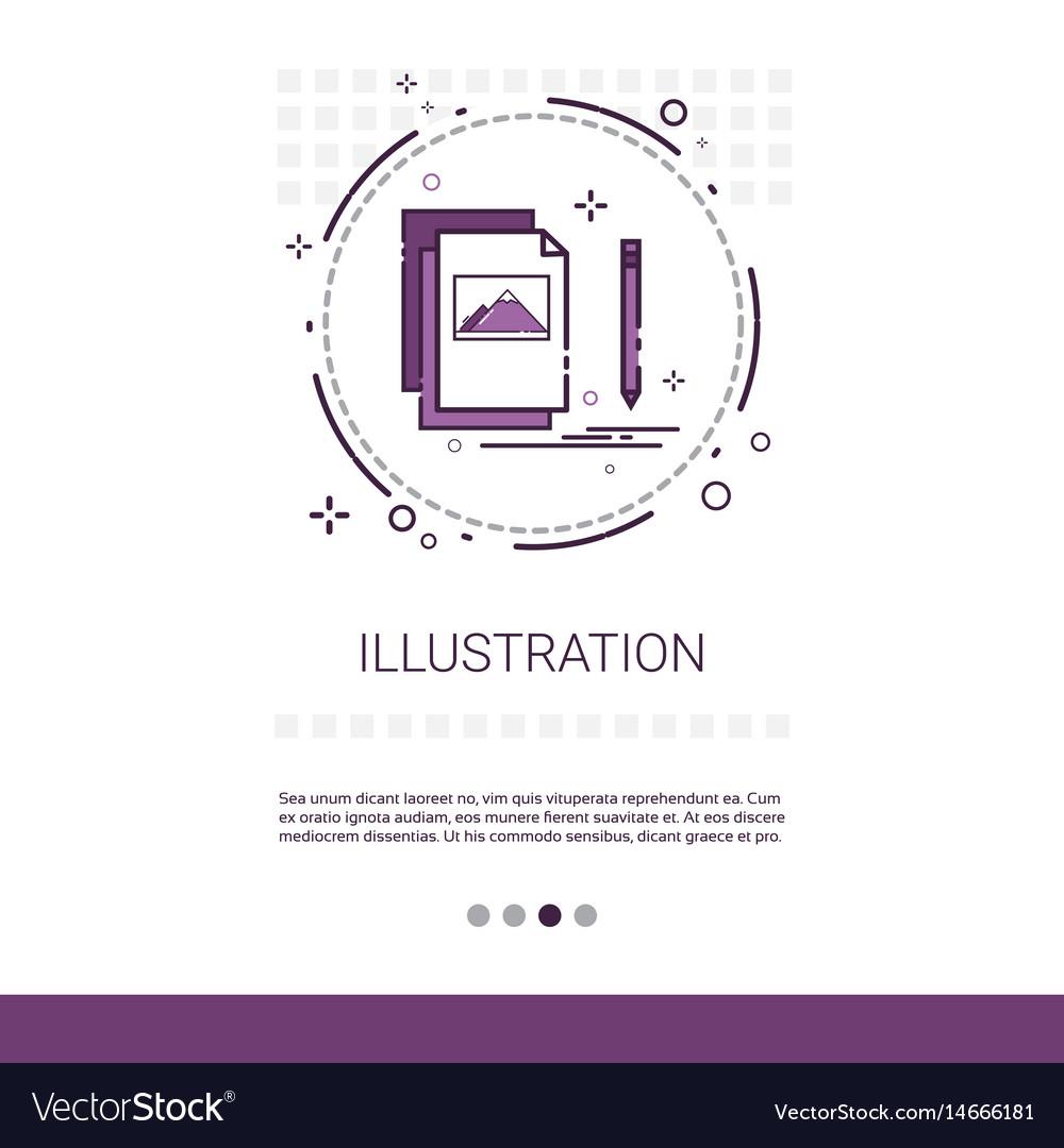 Graphic design development computer vector image