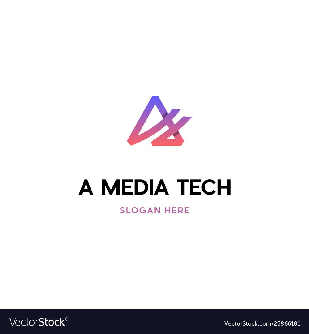 Letter a media creative logo
