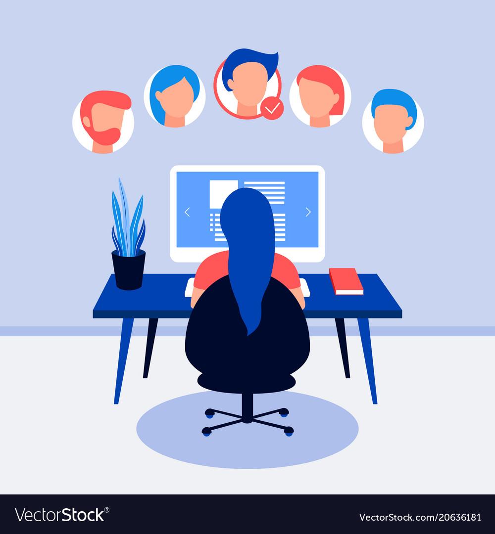 Resume on laptop screen