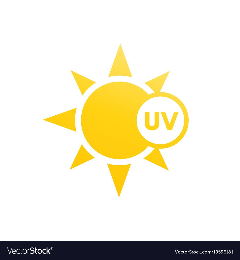 uv light icon royalty free vector image vectorstock