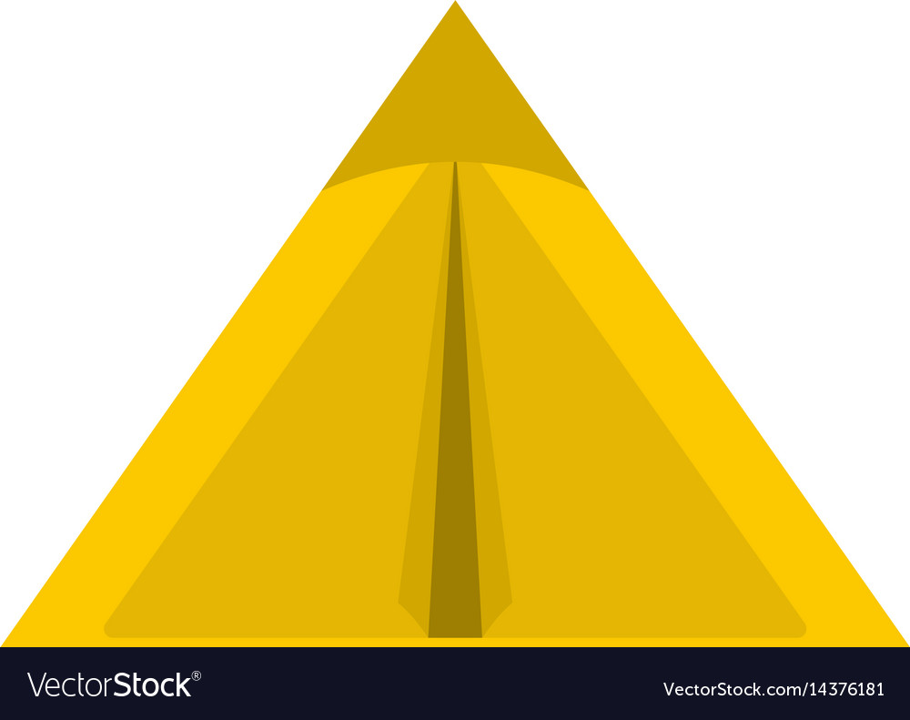 Yellow tourist tent for travel and camping icon vector image