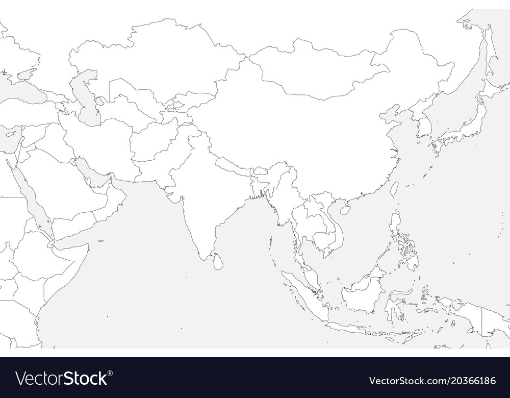 Blank Political Map Of Western Southern And Vector Image