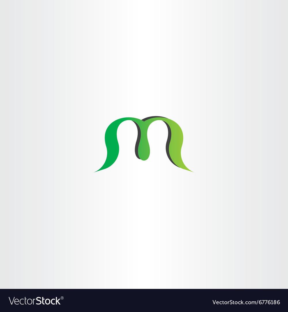 Green logotype logo m letter m sign icon