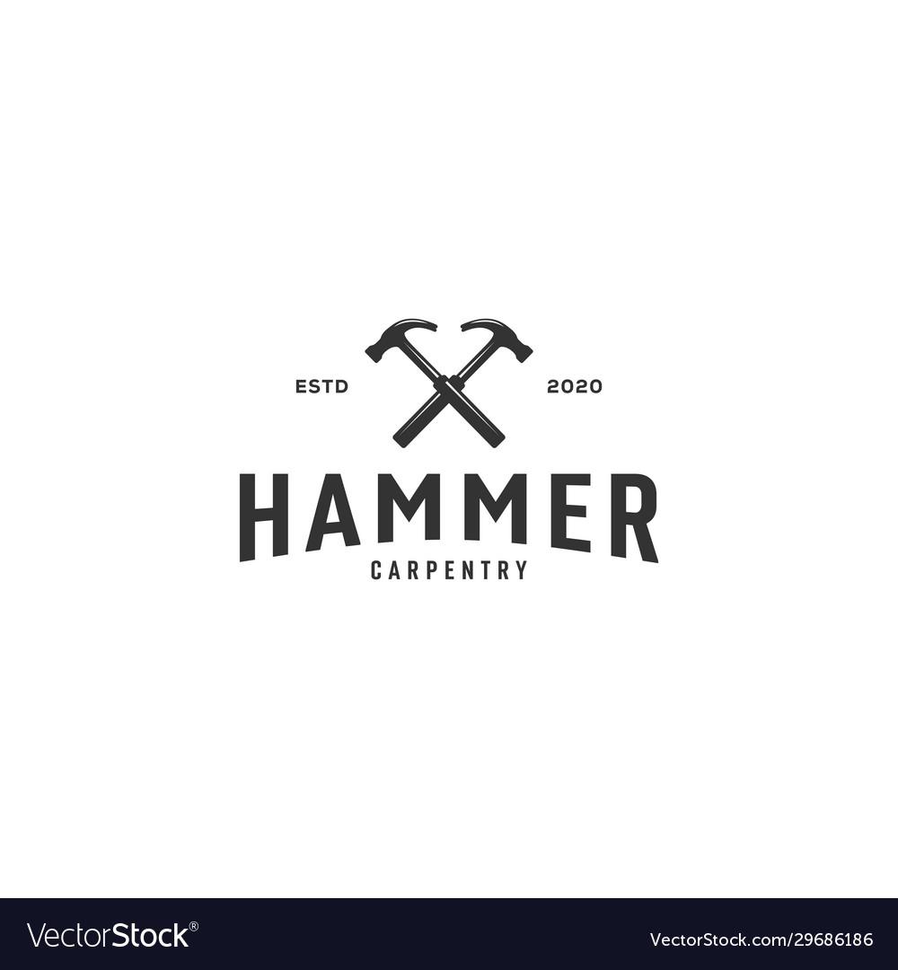 Hammer logo emblem vintage design