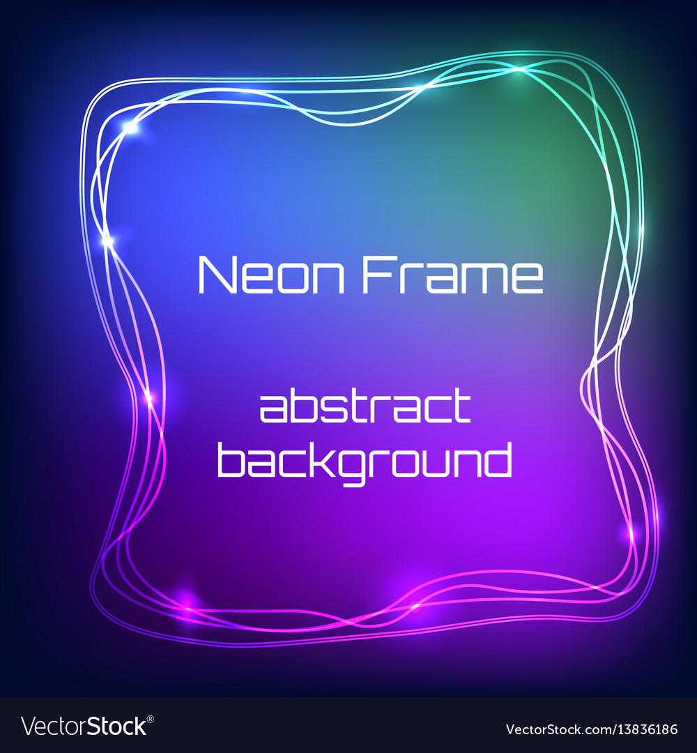 8e996b95680 Neon Light Frame Royalty Free Vector Image Vectorstock
