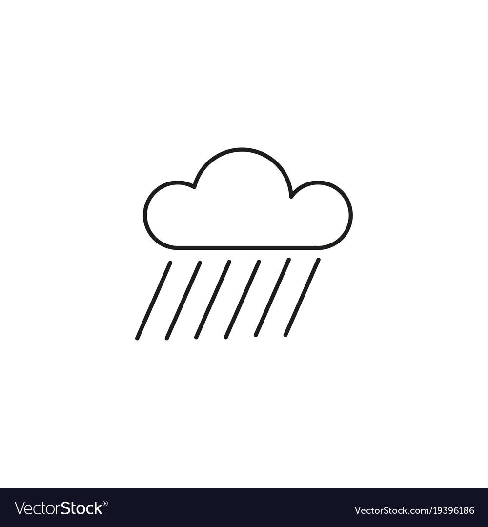 Shower rain icon vector image