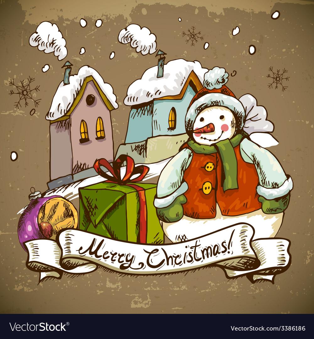 Snowman for Christmas design