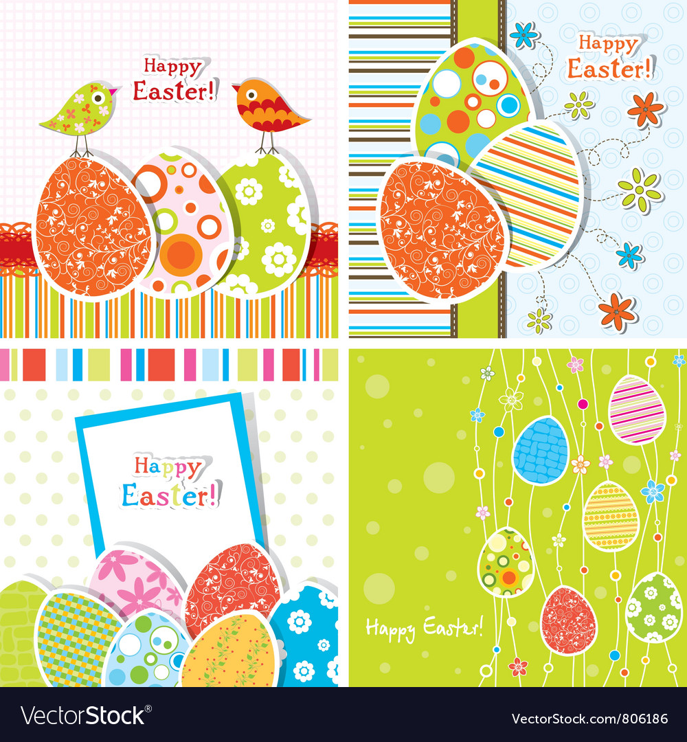 Template Easter greeting vector image