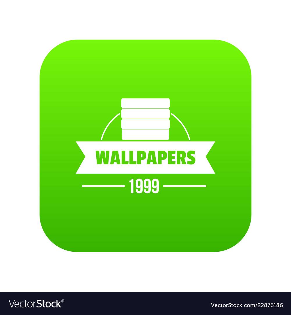 Wallpaper icon green vector image