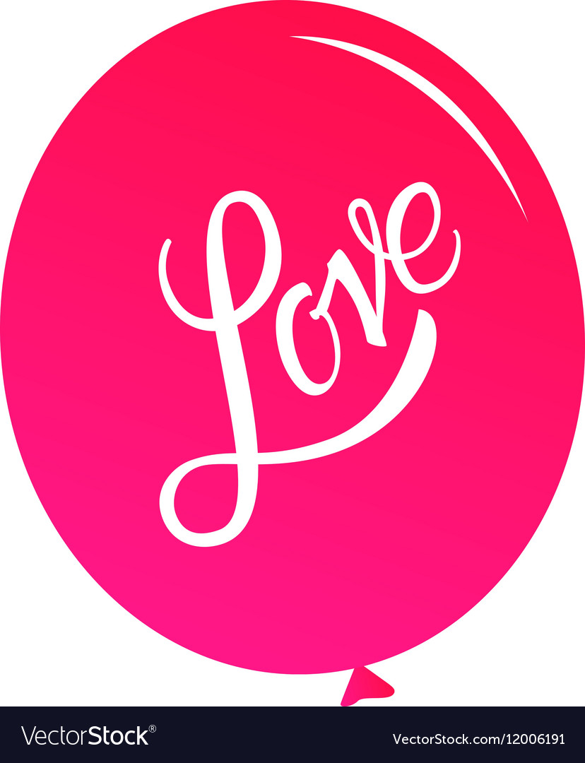 Calligraphic Lettering Love Inscription vector image