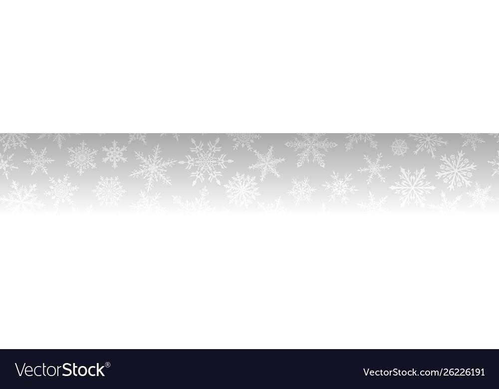 Christmas banner snowflakes