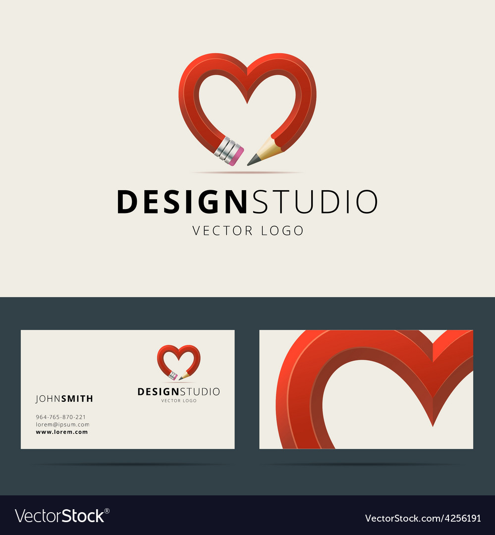Logotype and business card template for design