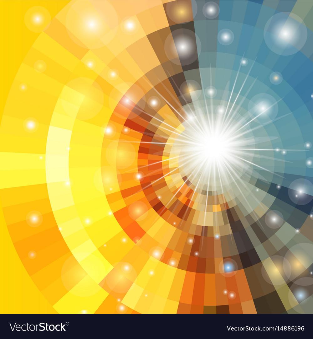 Abstract sunrise circle vector image