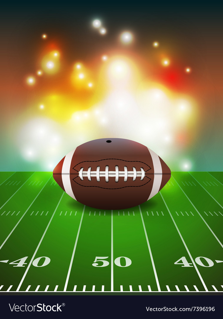 American football and field