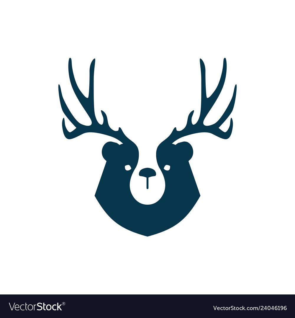 Bear deer logo for branding or merchandise and t