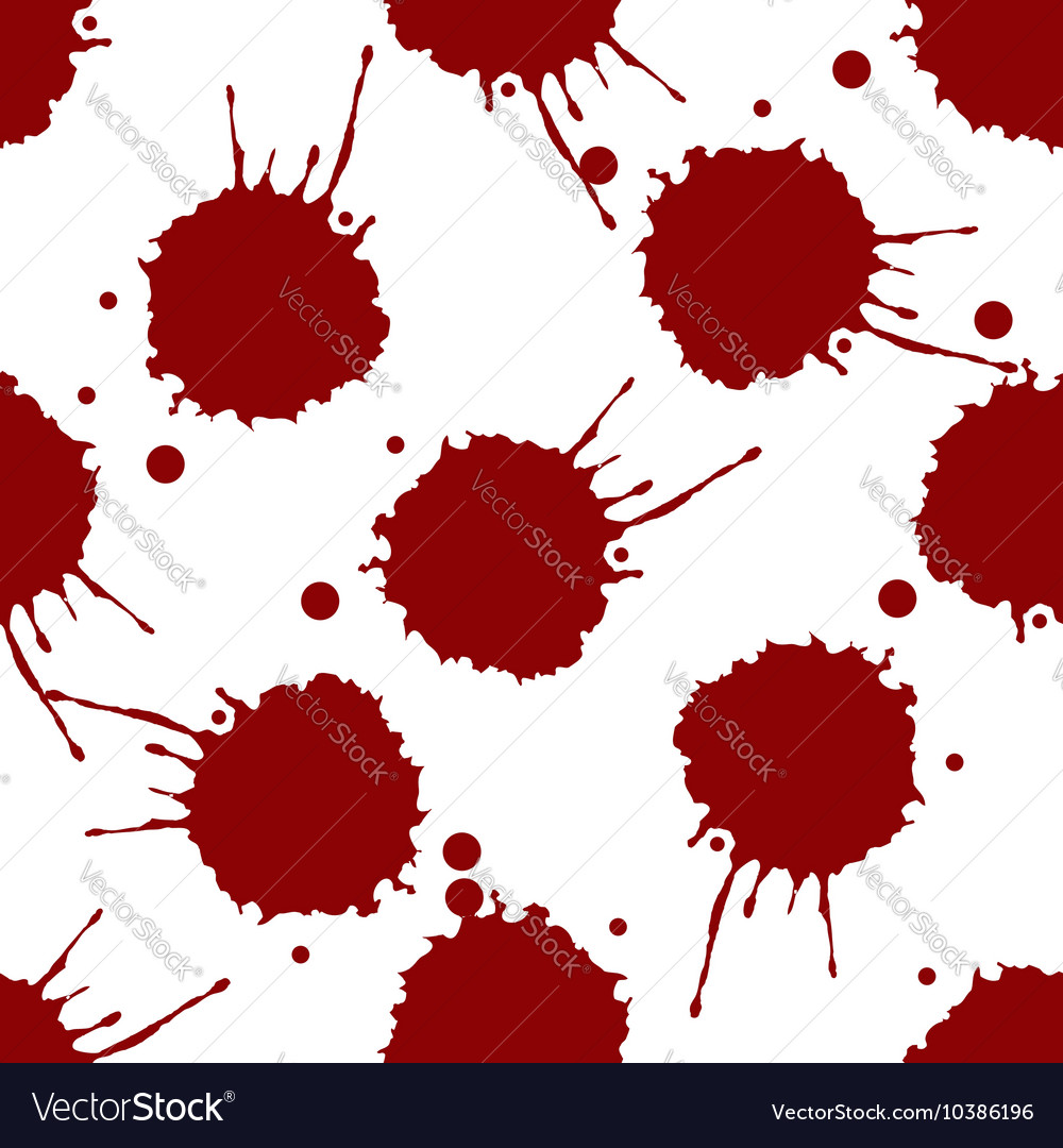 Blood splashes pattern vector image