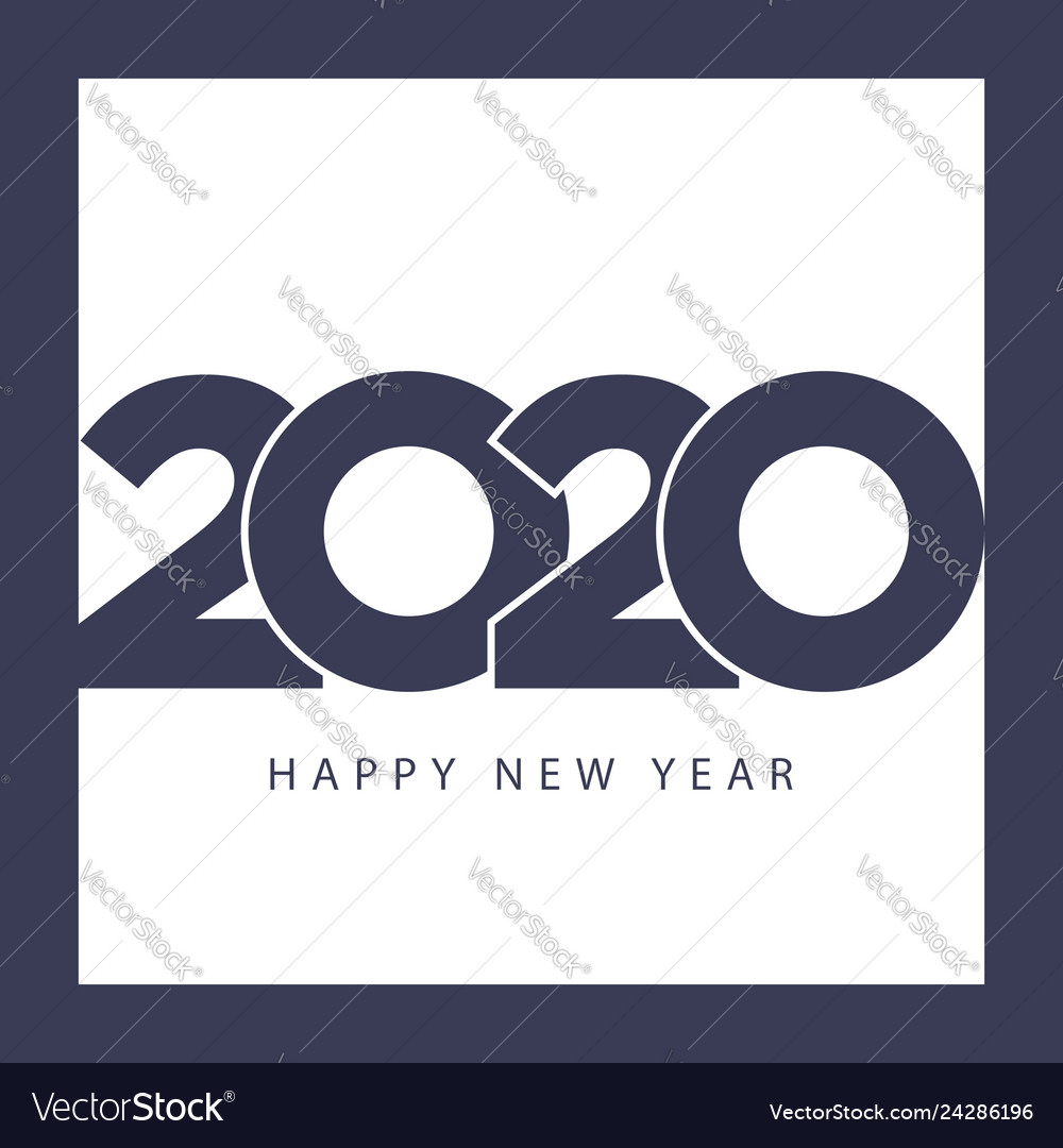 Happy new year 2020 template modern business style