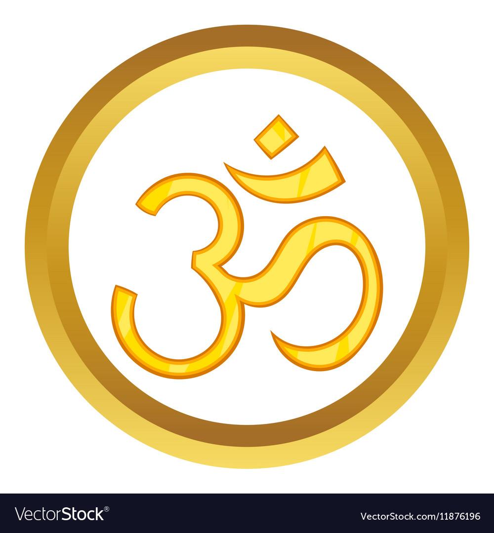 Hindu Om Symbol Icon Royalty Free Vector Image