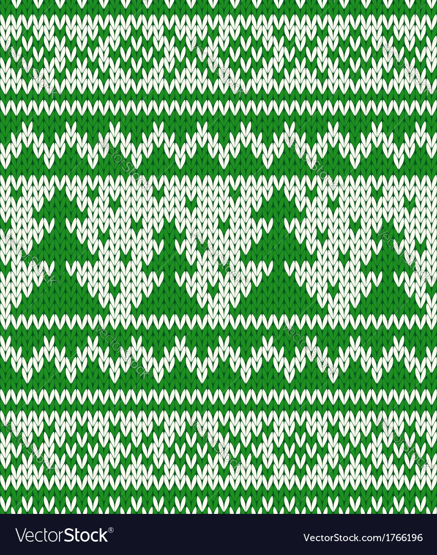 Knitted seamless pattern with fir-trees
