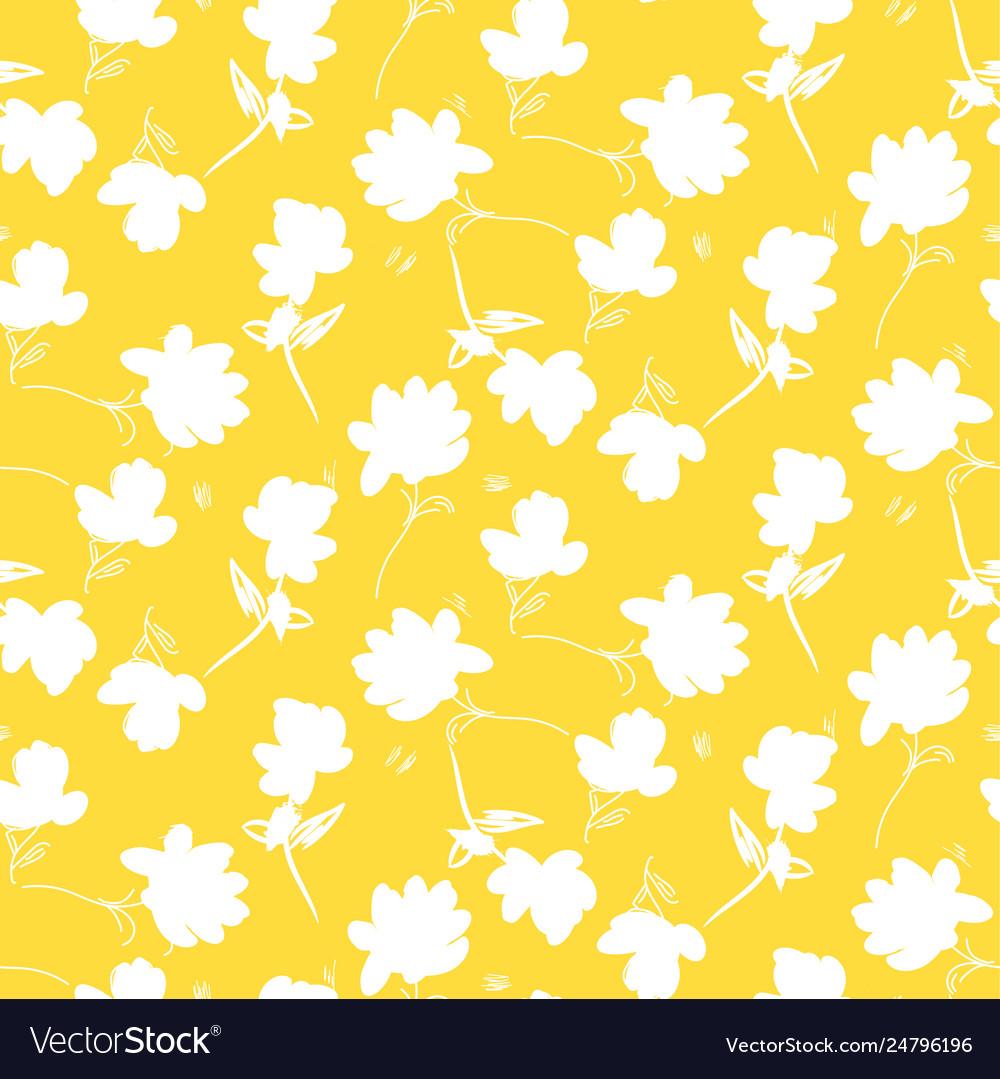 Simple flower yellow pattern design