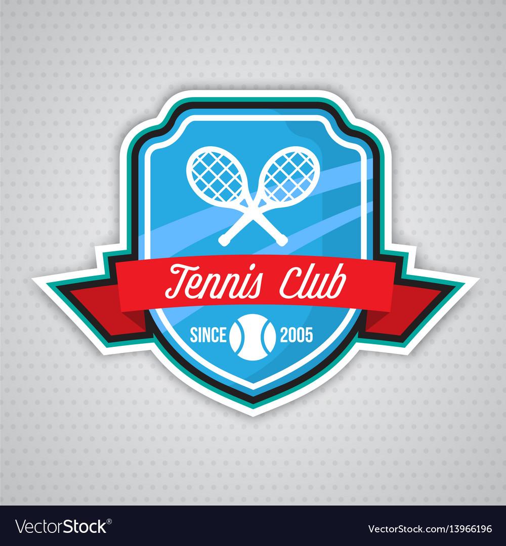 Tennis logo badge design templat