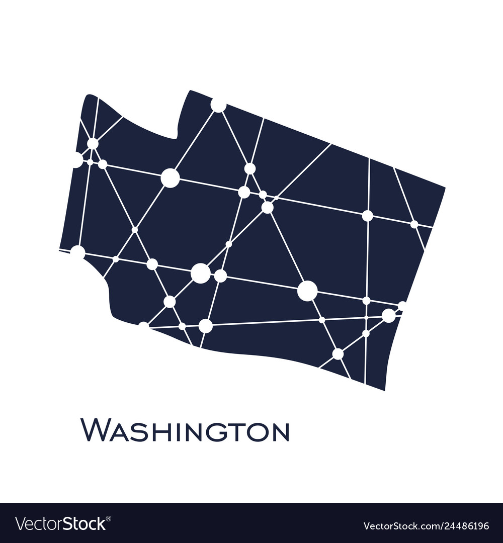 Picture of: Washington State Map Royalty Free Vector Image