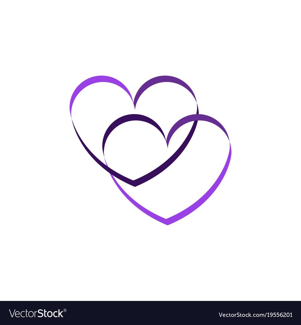 Abstract heart logo