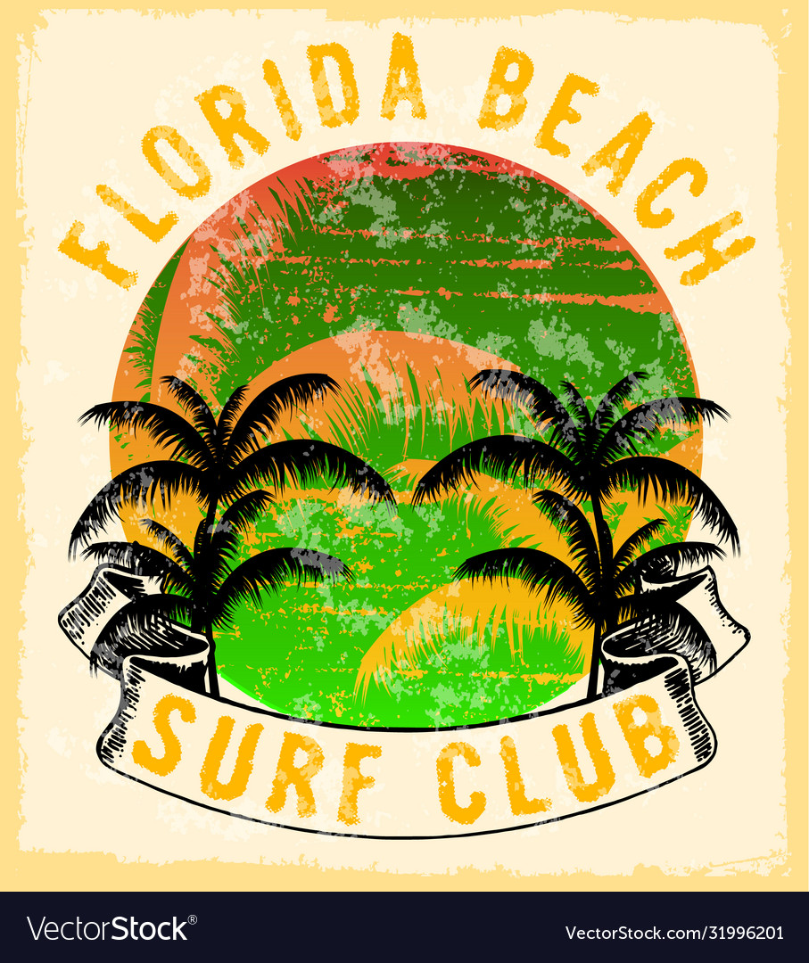Florida - concept in vintage graphic style