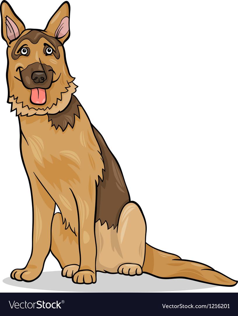 German shepherd dog cartoon vector image