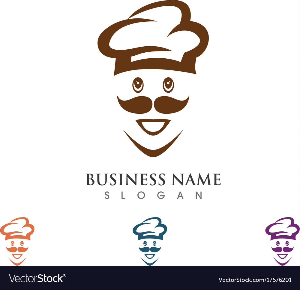 hat chef logo template royalty free vector image