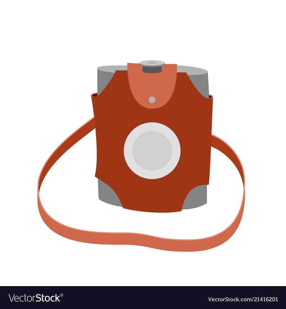 Hiking flask icon