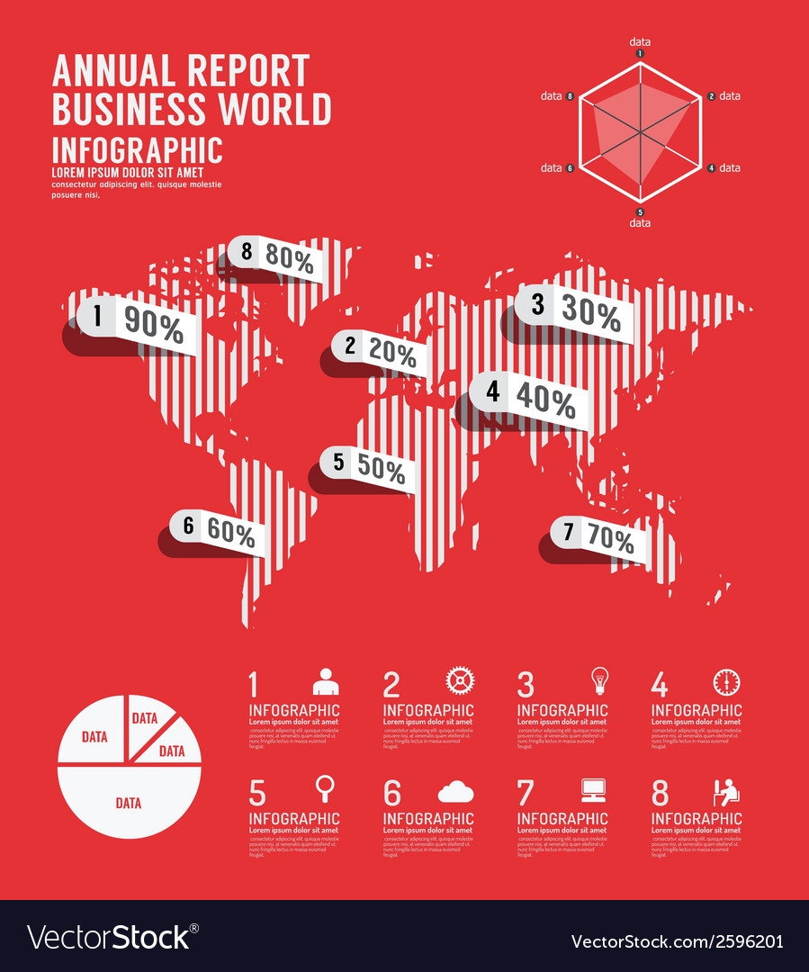 Infographic annual report Business world