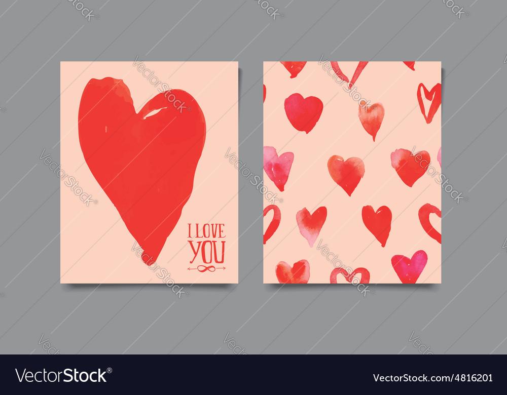 Postcard heart seamless pattern