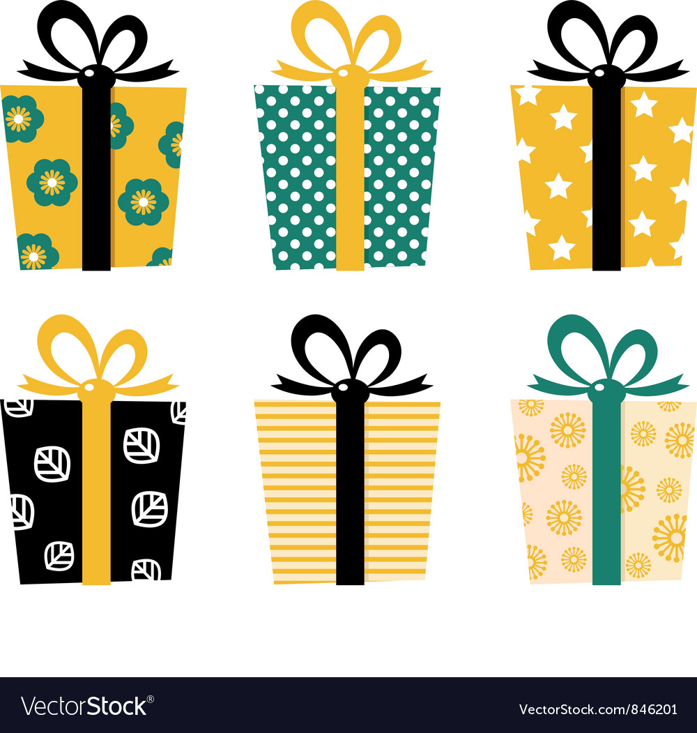 Retro gifts vector image