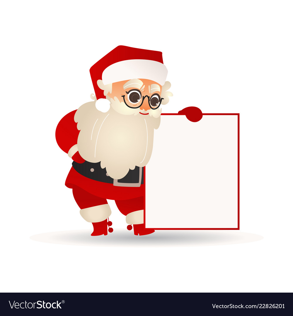 Santa claus holding blank