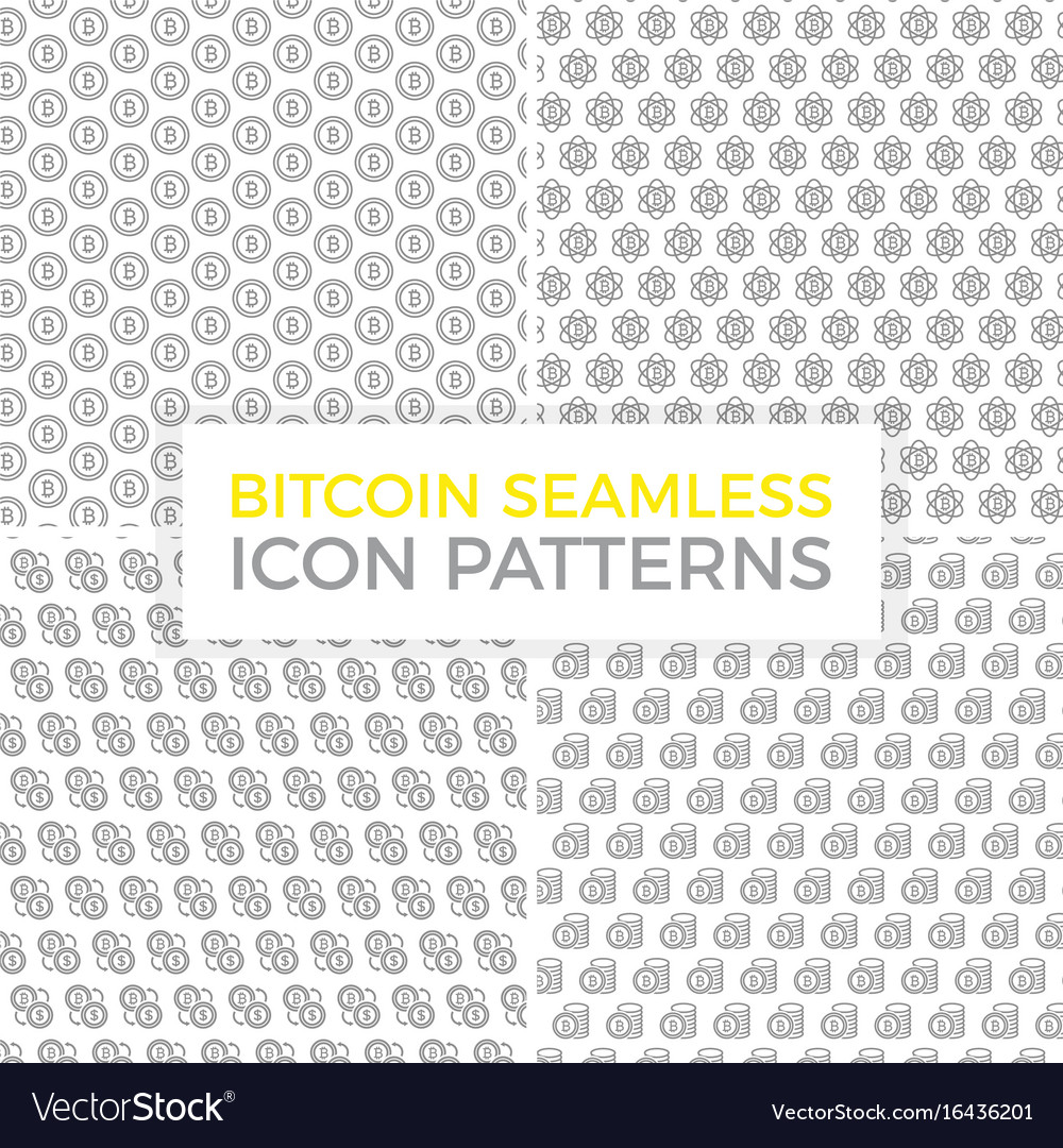 Unique digital money and bitcoin seamless pattern