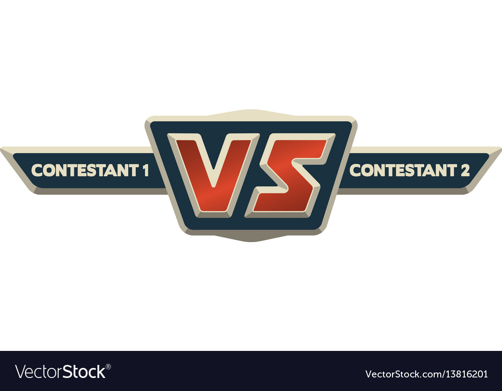 Vs Logo Versus Board Of Rivals Vector Image