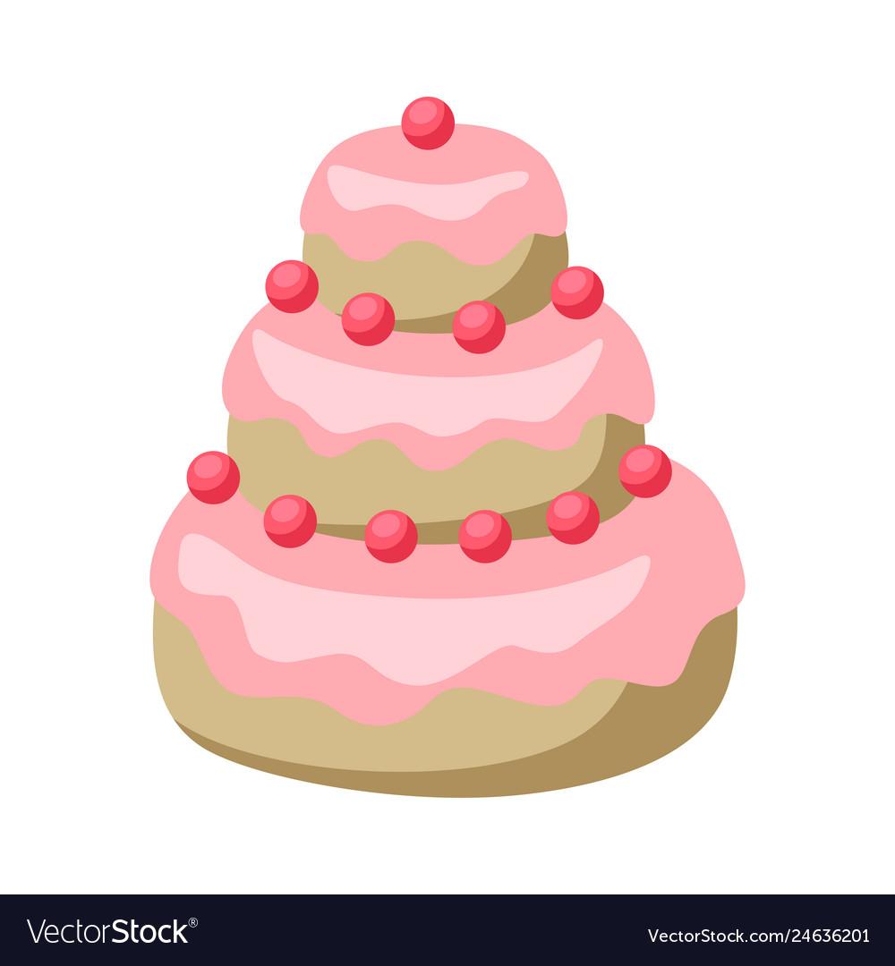Wedding cake icon sweet dessert