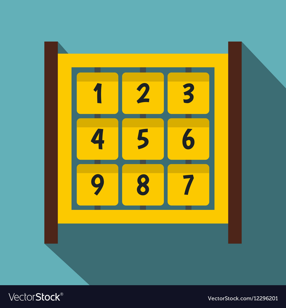 Yellow cubes with numbers on playground icon