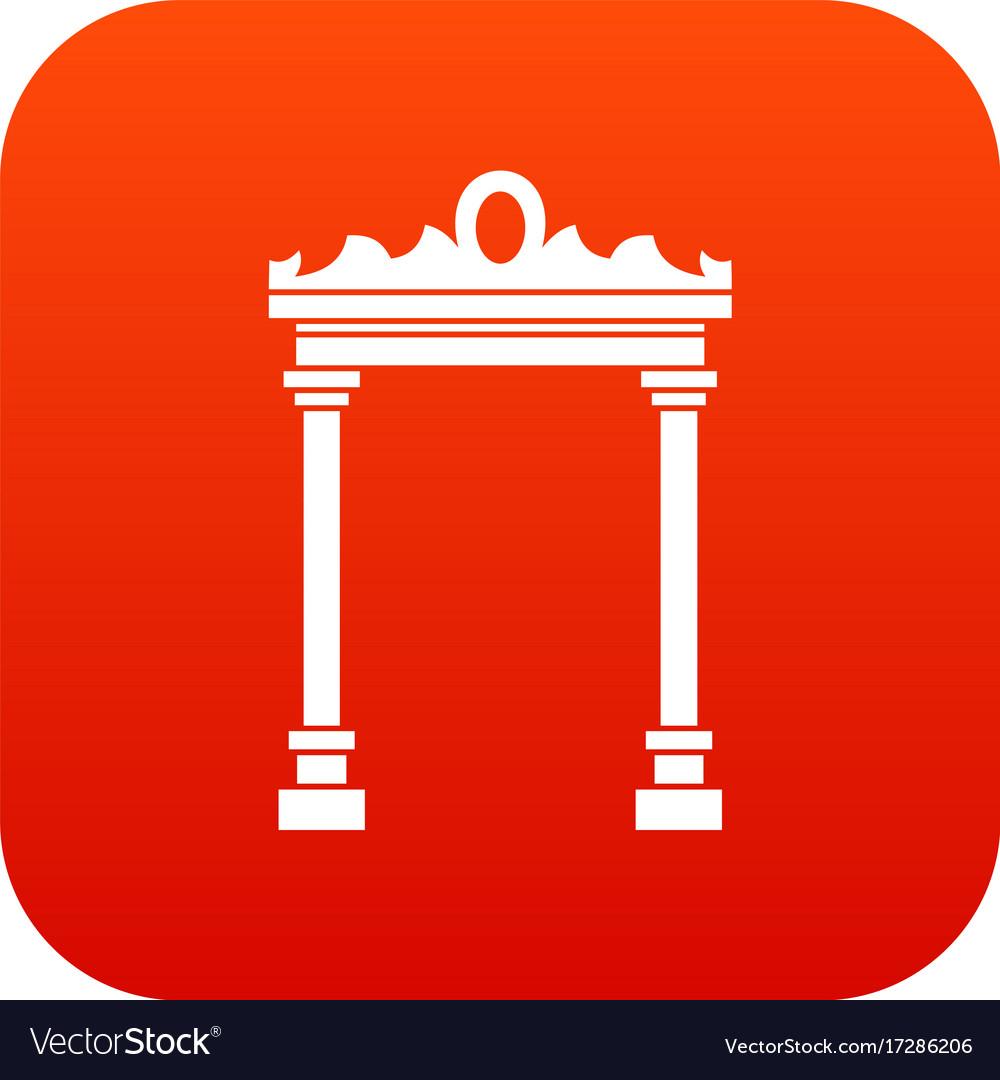 Arch icon digital red