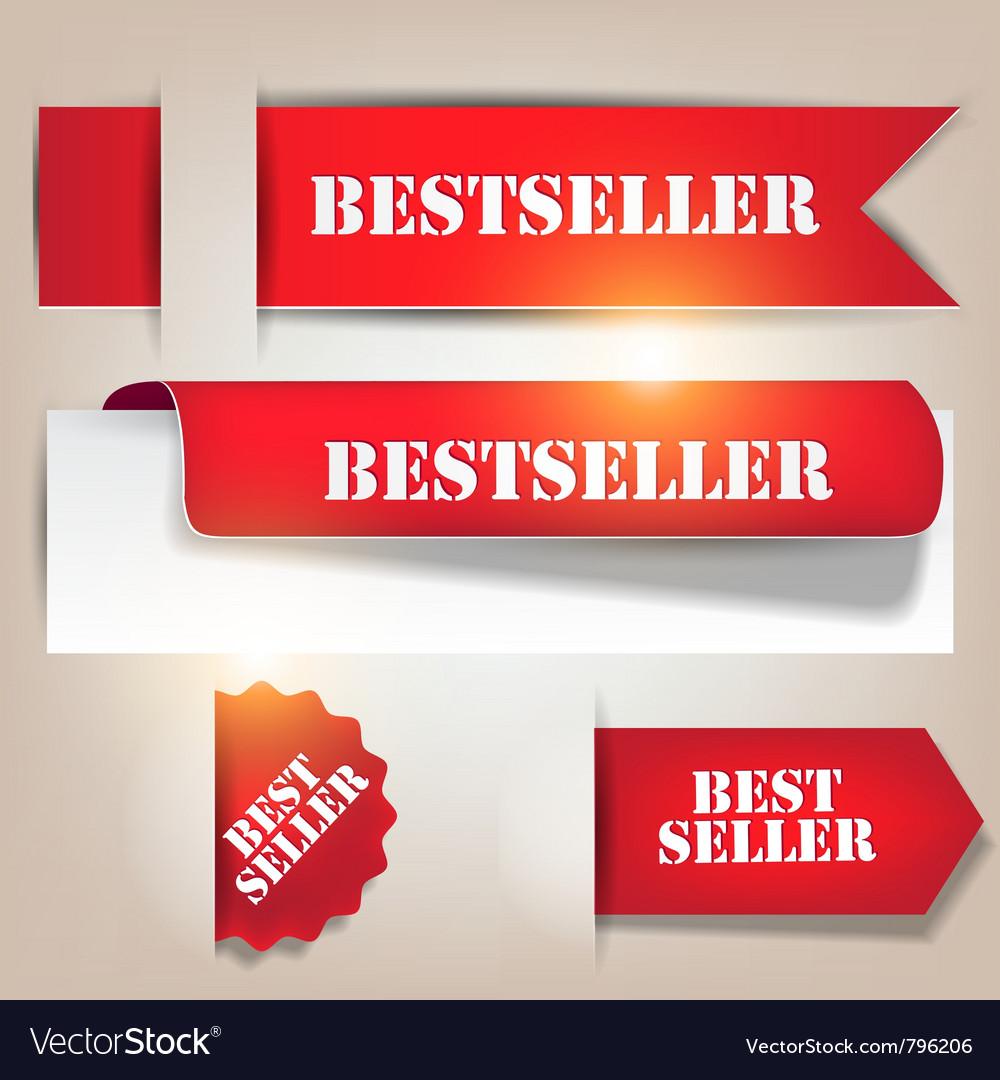 Bestseller banners labels vector image